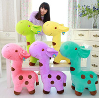 Wholesale base color giraffes Fat baby doll Super plush toys of giraffe figurines super soft short plush toys