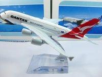 australia airlines - 16cm Metal airlines plane model new A380 Virgin Australia airplane model for children toys