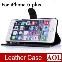 Cheap High Quality Cell Phone Leather Case Litchi Luxury Wallet Credit Card Stand Skin Cover for iphone 6 plus 5.5 inch Colorful
