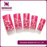acrylic nail airbrush designs - Nails Tools False Nails New Arrival x Elegant Series Colorful Red Plum Pattern Pre Design Airbrush Nail Tips Designer Acrylic Nail Art