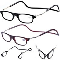 Wholesale Flexible Magnetic Foldable Men Women PC Work Reading Glasses Spectacles Reader Eyeglass Black Brown