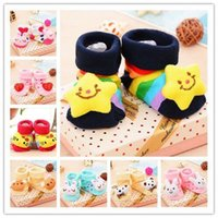 baby printed socks - Baby Animal Socks Newborn Baby Boys Outdoor Shoes Infant Girls Anti slip Walking Children Warm Sock kids Gift