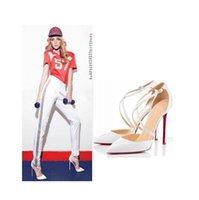 Wholesale Women Fashion Designer High Heels Wedding Dress Shoes Spring Summer Female Pumps PU Leather Ankle Strap Shoes