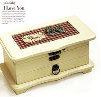 Wholesale Japanese Zakka imperfect Emei Nixon hand embroidered jewelry music box jewelry box D24