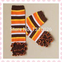Wholesale thanksgiving baby leg warmer ruffle leg warmer