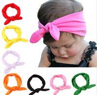 american bandana - 15 Colors Baby Kids Girls Bowknot Tie Ear Hairband Headband Headwrap Headwear Bandana Hair Band Accessories JIA025