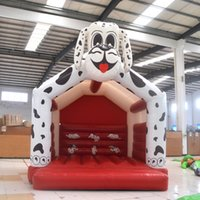 amusement equipment - AOQI amusement park equipment inflatable dog bouncer inflatable bounce house inflatable jumping bouncer for children for sale
