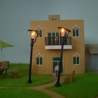 Wholesale High Quality Black Building Toy set HO Scale Model Layout Single Head Garden Lights Lamppost Lamp for Decoration