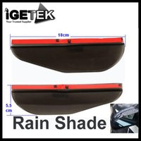 Wholesale 1Pair Flexible PVC Car Rearview Mirror Shell Waterproof Cover Rain Shade Rainproof Blades Black
