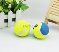 Wholesale Yellow Medium Tennis Ball With Rope Dog Toy