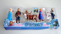 Wholesale Frozen Different Action Figures with Blister Card Packaging Anna Elsa Hans Kristoff Sven Olaf PVC Action Figures Hot Christmas Toys Xmas