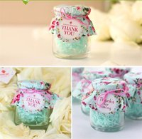 Wholesale packing powder tear creative wedding gift bow glass bottles sugar Favor boxes castors Favor Holders Wedding Supplies cm