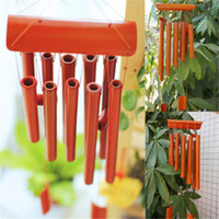 bamboo wood chimes - Wind Chime Bamboo Wood cm Drop Garden Ornament Feng Shui Rectangular New