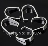 jewelry stainless steel findings - 316L Silver Stainless Steel Pendant Pinch Clip Clasp Hooks Bail Connector DIY jewelry finding