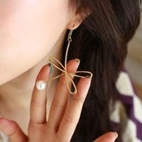 big bow knot earring - western style Fashion Women Jewelry individuality bow butterfly knot pearl big beauty earrings