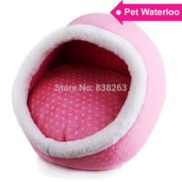 Wholesale 3 Color New Dog Cat Oval Bed House High Quality Puppy Pet Bedding Kennel House Cushion Shipped Size S L
