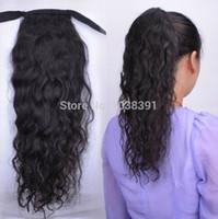 human hair ponytail - 100 Human Hair Ponytail Extension Pony Tail Human Hair Clip Peruvian Curly Virgin Hair g inch