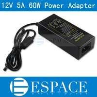 Wholesale 20piece V A W Power Supply AC V To DC Adapter Plug For Strip LED with EU US UK plug free DHL