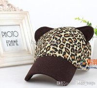 Cheap Leopard Snapback Cat Ear Style For Women 6colors 2013 5pcs Lot Free Shipping 1209B3