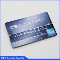 Wholesale 100 Genuine USB Flash Drive American Express card memory stick pen drive GB GB GB GB GB GB USB pendrive US0521F