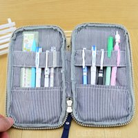 air force bags - Air Force One Large Capacity Pencil Case Canvas Pencil bag Double Zipper Pen bag with Hand Strap Stationery bag School Supply