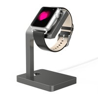 Wholesale New Arrival Aluminum alloy Watch charger cradle Holder Stand For Apple watch Gray Portable Charger