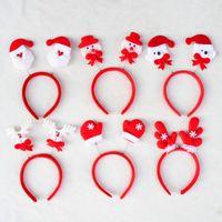 Wholesale 12 cm Santa Claus hairpin Xmas Hairband Santa Clause Headband Headgear Kids Adults Christmas Party Dress Up Gift