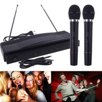 professional karaoke system - 1set Microphone System Professional Wireless Dual Handheld x Mic Receiver