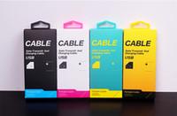 al por mayor cajas de cable gratis-Comercio al por mayor de DHL 500pcs Embalaje caja de venta del paquete del papel universal de encargo para el cable para el iphone Samsung Mobile Usb Teléfono Cable de datos Cable