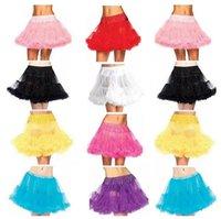 tulle petticoat - 2015 Petticoat Wedding Slip With Fluff Mini Short Vintage Tulle Crinoline Underskirt Colourful High Quality For Bridal Wedding Dress