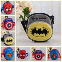Wholesale 4 colors batman superman spiderman captain American kid boy girl plush school bag aslant parcel bags backpack christmas gift topB1343