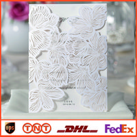 blank cards - Lace Hollow White Folded Wedding Invitations Blank Inner Sheets Cards mm Wedding Card HQ1026