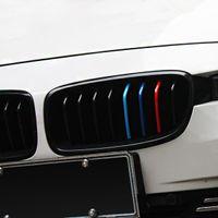 Wholesale 22x0 cm set Car styling Front Grille Reflective sticker For BMW series m3 m5 X1 X3 X5 X6 E36 E39 E46 E30 E60 E92