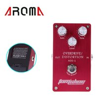 Cheap Aroma Guitar Effect Pedal Overdrive Distortion Design Built-in FET Transistor with Adjustable Knobs Wholesale Retail