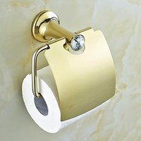 Wholesale Contemporary Golden Crystal Brass Toilet Roll Holders