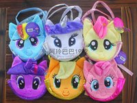 baby girls shop - 6 colors Children Little Pony Wallets My Little Pony Plush Handbags Baby Colorful Cute Horse Bags Shopping Bags Kids Cartoon Bags