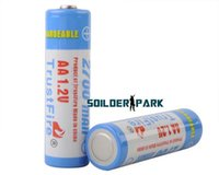 Wholesale 2pcs TrustFire Rechargeable V mAh Ni MH AA Battery Blue and White High Quality Environment Friendly Durable Battery order lt no t