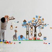 owl decor - Owl Wall Stickers Zoo Animal Tree Monkey Elephant Decals Nursery Kids Room Decor