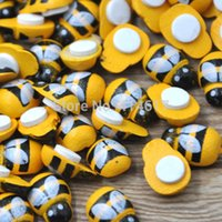 bee magnet - 10 Bee Stickers Easter Decoration Cute Fridge Magnets for Scrapbooking x13MM