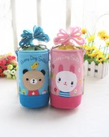 animal water bottle - 50pcs New Child cartoon animal water bottle termo bebe bag keep warm thermal thermol thermos thermo cloth storage insulation bag HX