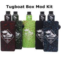 Wholesale Tugboat Box Mod Kit Tuglyfe Unregulated Box Mod E Cig Starter Kit Clone Aluminum Body With Original Gift Bag fit RDA Vaporizer DHL Free