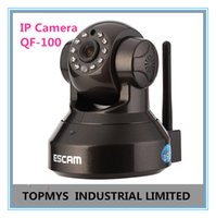 Logiciel caméra de sécurité ip France-ESCAM 720P HD P2P Plug and Play sans fil IP caméra CCTV Home Security Camera IPCamera Iphone gratuit Android App Software QF-100