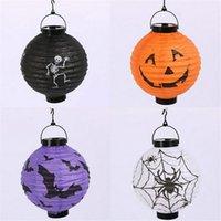 Cheap Halloween Decoration Pumpkin Light Hanging Paper Lantern Lamp Outdoor Party Supplies
