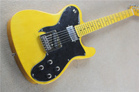 vintage black guitar - The Factory Customized High Quality String Electric Guitar with Vintage Yellow Body and Big Black Pickguard