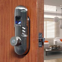 Wholesale ASSA ABLOY DIGI Weatherproof Keyless Keypad Fingerprint Deadbolt Door Deadlock Knob A Satin Nickel