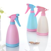Wholesale Plastic Candy Color Pressure Spray Trigger Refillable Bottle Watering Pot Makeup Cosmetic Hairdressing Salon Water Atomizer