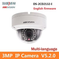 Wholesale Newest Hikvision V5 Multi language Version DS CD2132 I MP Mini Dome Camera P POE IP CCTV Camera Shipments in hours
