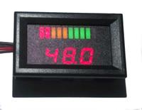 Wholesale 10 bar LED Digital Battery Charge Indicator with voltage indication For Golf Cart motorcycle V V V V V up to V sample