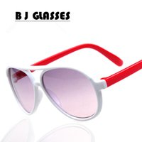 beaming baby wholesale - New classic children s Sunglasses with a double beam and colorful Baby Love Green Town