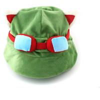 Wholesale Gorro Captain Teemo On Duty Sombrero Legends LOL Teemo Hat Juego Nuevo Game Cosplay Cap Hat